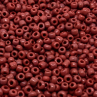 100g Burgundy Opaque Glass Seed Beads 11/0